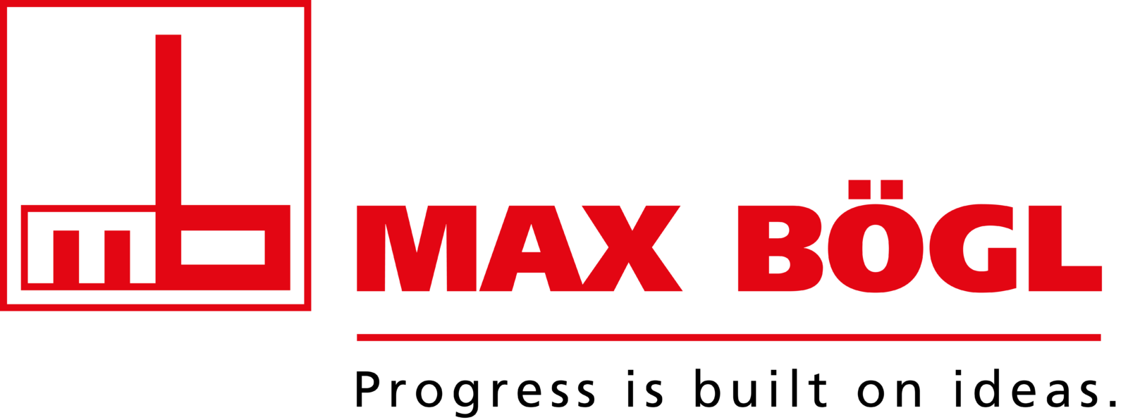 Max Boegl logo with claim