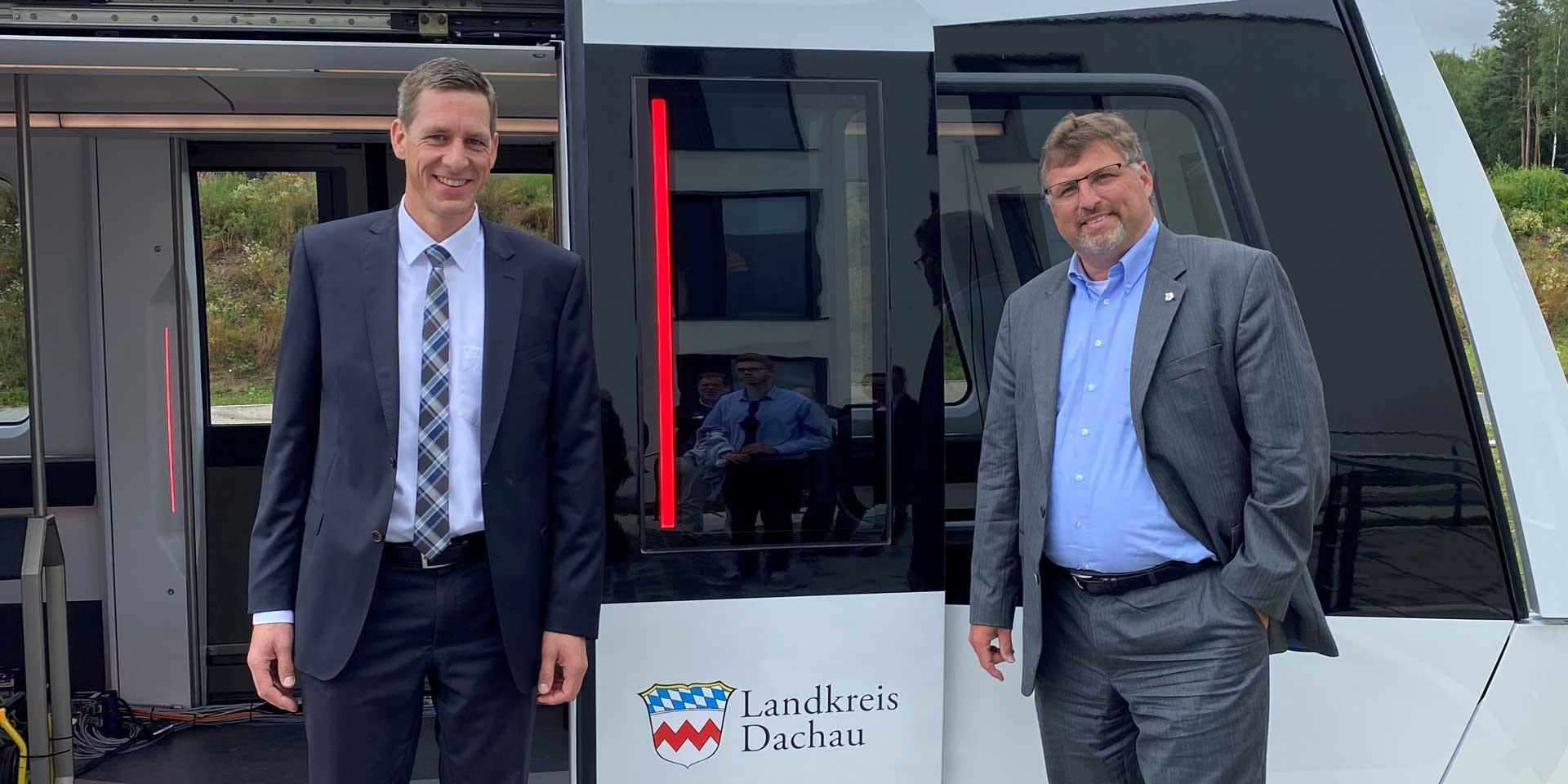 TSB Kreisdelegation besucht Magnetschwebebahn-Hersteller